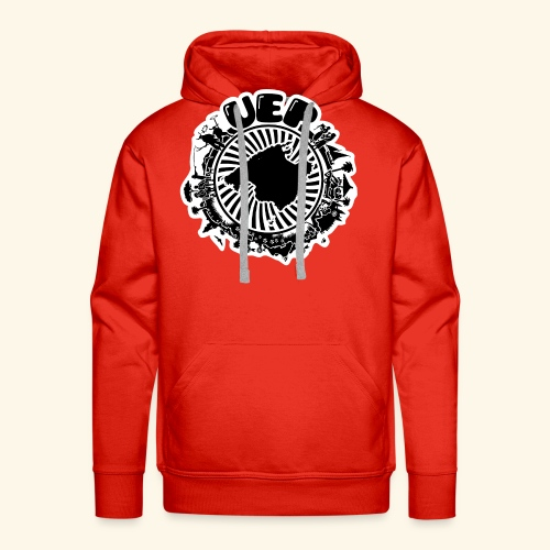 UEP white background - Men's Premium Hoodie