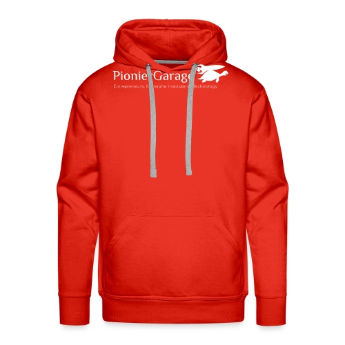 LogoMitNameUndSloganWhite png - Männer Premium Hoodie