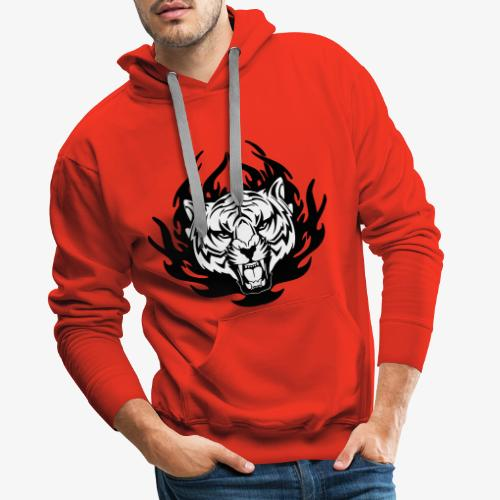 Le tigre en toi ! - Sweat-shirt à capuche Premium pour hommes