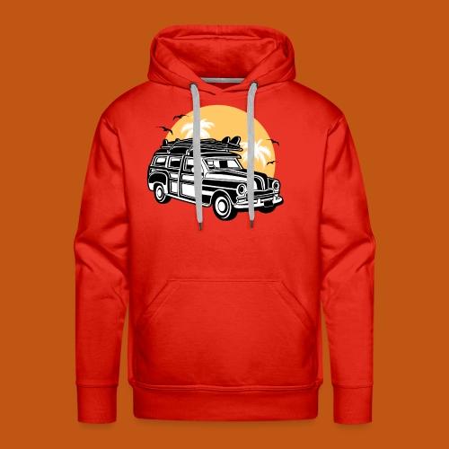 Chevy Cadilac Woodie / Oldtimer Kombi 01_3c - Männer Premium Hoodie
