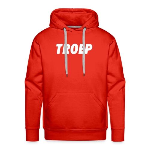 TROEP wit op kleur - Mannen Premium hoodie