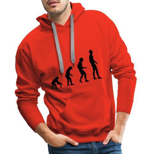 Du singe a l'homme - Sweat-shirt à capuche Premium pour hommes