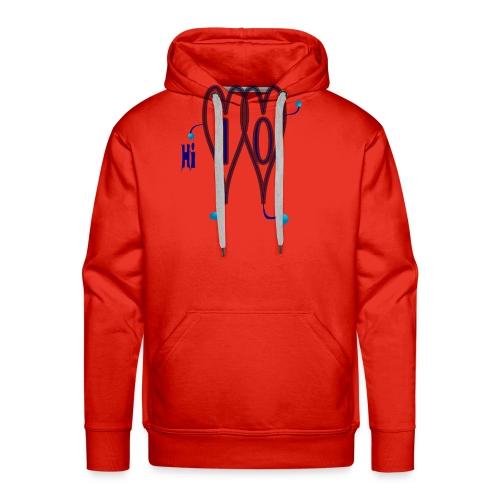 Design t-shirts online t-shirt hii - Sweat-shirt à capuche Premium pour hommes