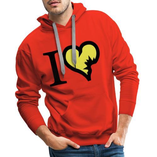 i love explosion2 - Mannen Premium hoodie