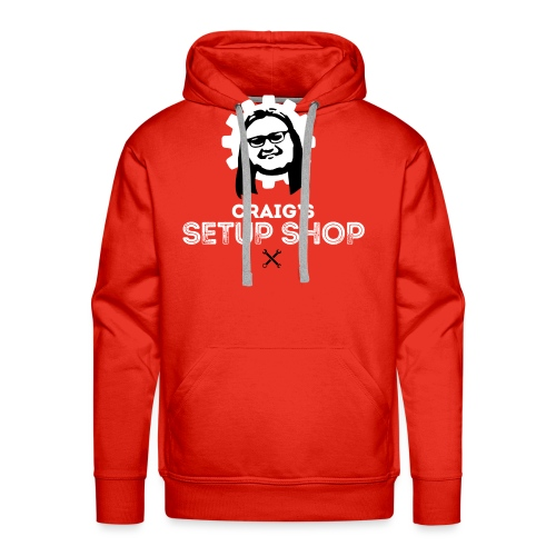 Craigs Setup Shop on Red - Men's Premium Hoodie