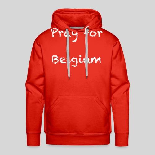 Pray for Belgium - Sweat-shirt à capuche Premium pour hommes
