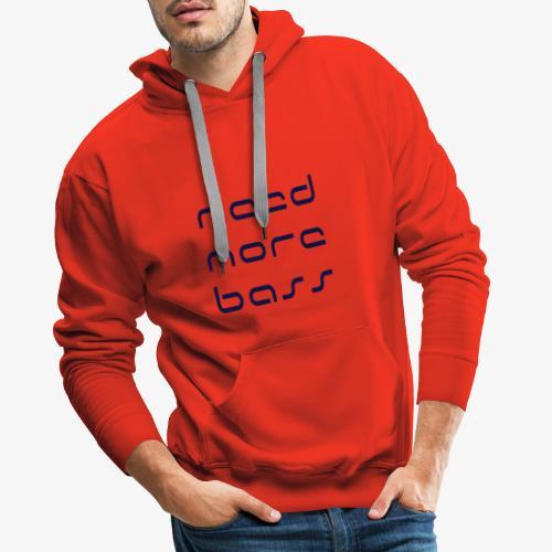 Need More Bass Bleu Marine - Sweat-shirt à capuche Premium pour hommes