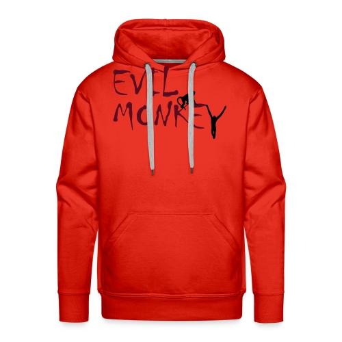 evil monkey tee - Men's Premium Hoodie