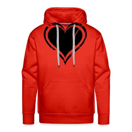 Heart - Miesten premium-huppari