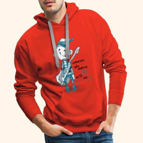 someone who wanna play with me Guitar - Männer Premium Hoodie