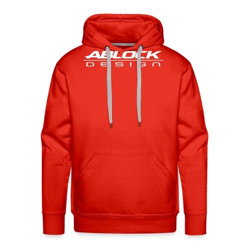 ABLOCK Design blanc - Sweat-shirt à capuche Premium pour hommes