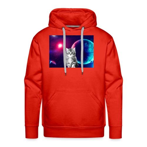 Cute cat in space - Miesten premium-huppari