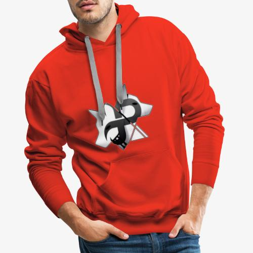 Platinium Wolf - Sweat-shirt à capuche Premium pour hommes