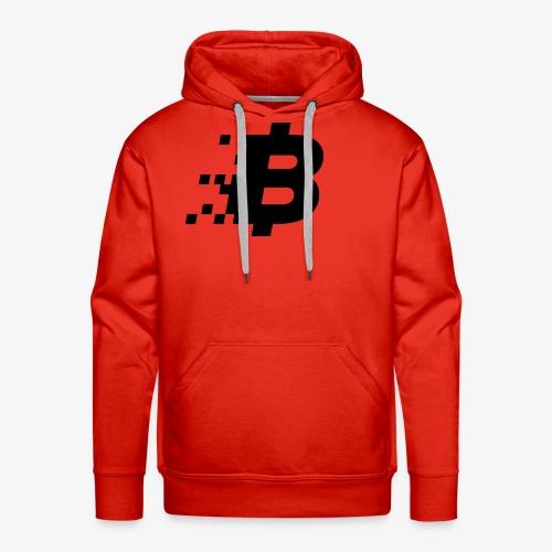 Bitcoin black logo - Men's Premium Hoodie