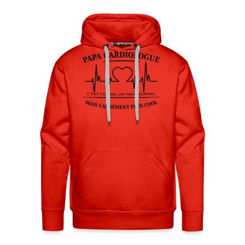 papa cardiologue - Sweat-shirt à capuche Premium pour hommes