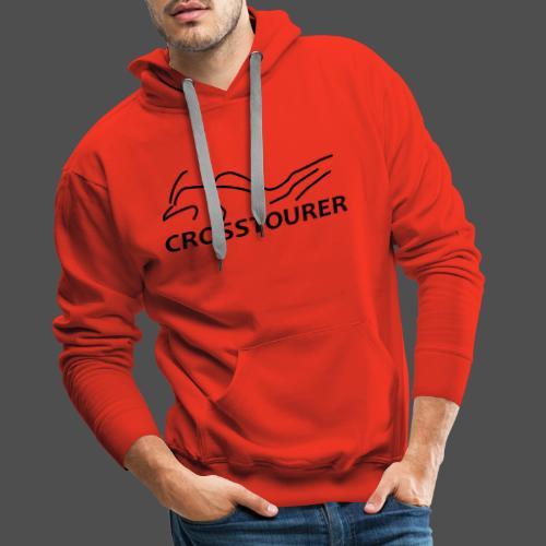 Crosstourer - Bluza męska Premium z kapturem