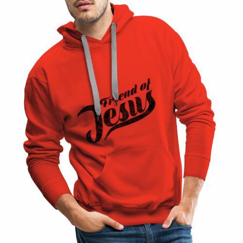 Friend of Jesus schwarz - Männer Premium Hoodie