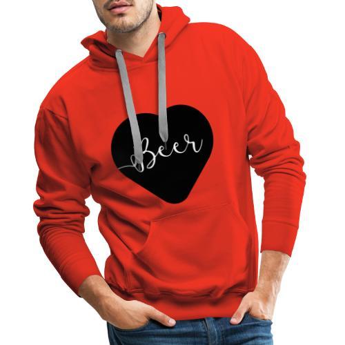 I love beer - Sweat-shirt à capuche Premium pour hommes