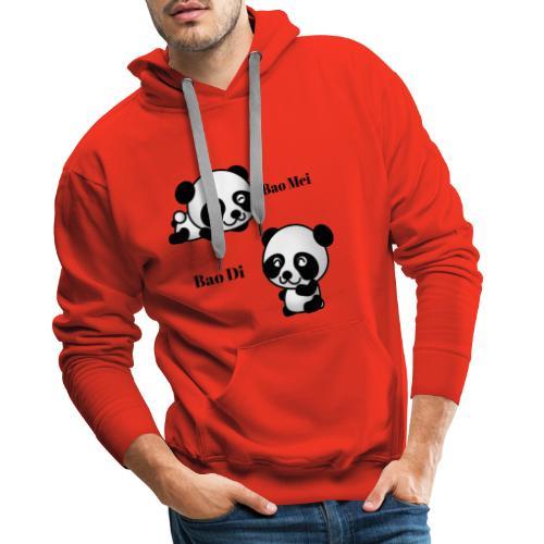 Bao Di Bao mei les petits pandas - Sweat-shirt à capuche Premium pour hommes