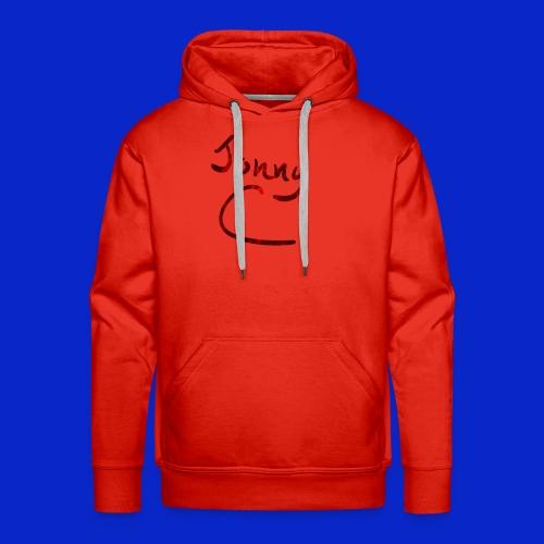 Jonny C Red Handwriting - Men's Premium Hoodie