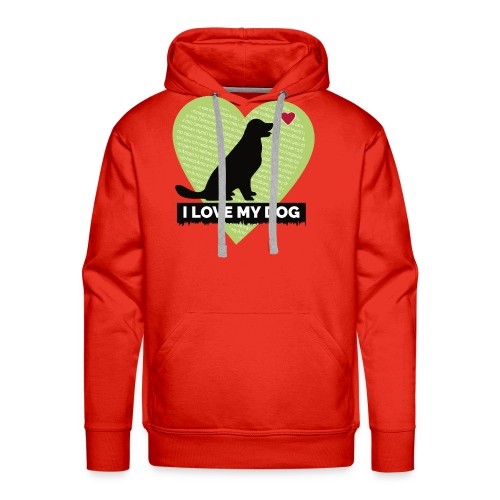 I LOVE MY DOG HEART - Men's Premium Hoodie