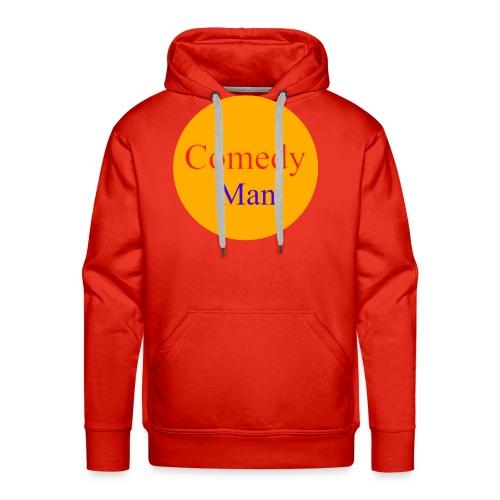 comedy man logo - Mannen Premium hoodie