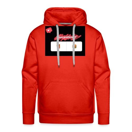 la pizza ou le hamburger choisissez votre camps PB - Sweat-shirt à capuche Premium pour hommes