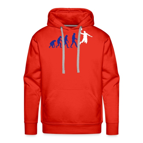 Basketball evolution logo - Sweat-shirt à capuche Premium pour hommes