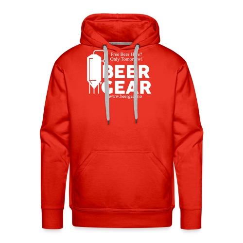 Beer Gear free Beer White - Premium hettegenser for menn