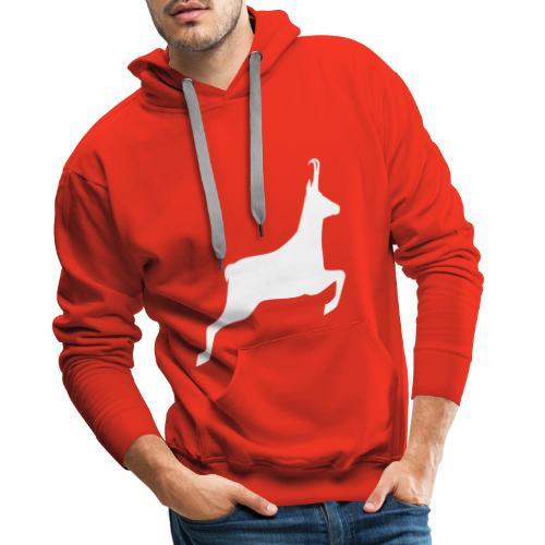 T-shirt Chasse personnalisable - motif chamois - Sweat-shirt à capuche Premium pour hommes