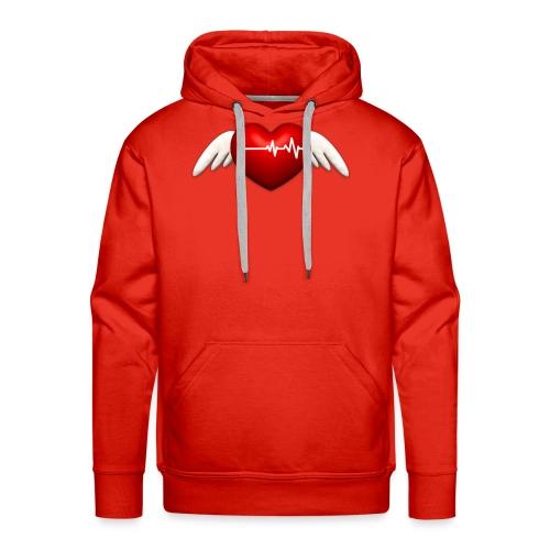 Lebensretter Herz mit Flügel - Männer Premium Hoodie