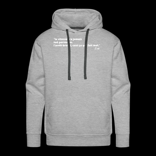 vitesse (blanc) - Sweat-shirt à capuche Premium pour hommes