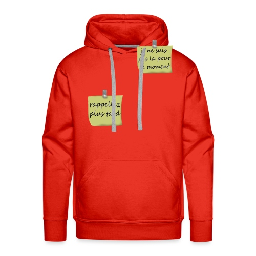 humoristique post-it - Sweat-shirt à capuche Premium pour hommes