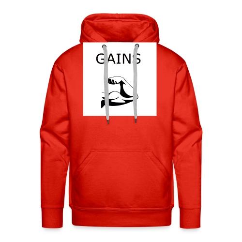 Gains2 - Männer Premium Hoodie