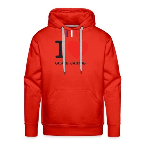 giletsjaunes - Sweat-shirt à capuche Premium pour hommes