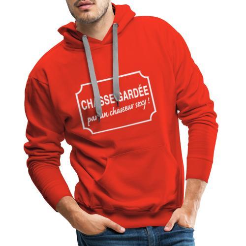 CHASSE GARDÉE par un chasseur sexy ! - Sweat-shirt à capuche Premium pour hommes