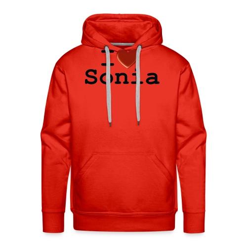 i love sonia - Bluza męska Premium z kapturem