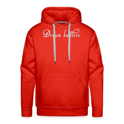 Logo DH bianco sfondo trasp - Felpa con cappuccio premium da uomo