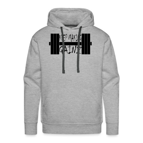 Weight + Text - Men's Premium Hoodie