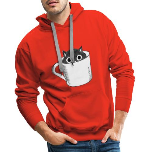 Katze in Tasse - Männer Premium Hoodie