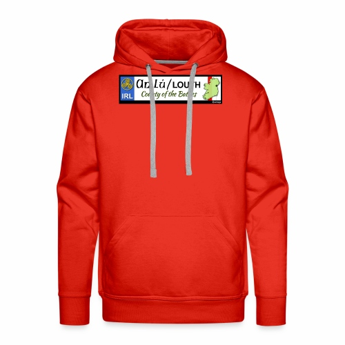 CO. LOUTH, IRELAND: licence plate tag style decal - Men's Premium Hoodie