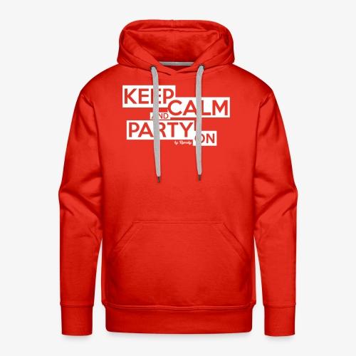 Blijf kalm - Mannen Premium hoodie