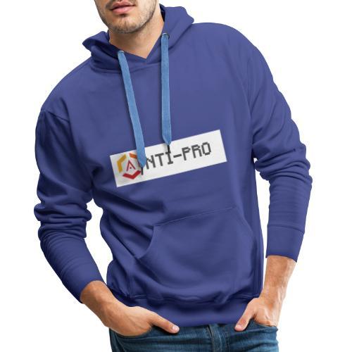 Maglietta Scritta Mario Anti-Pro Semplice - Felpa con cappuccio premium da uomo
