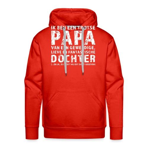Trotse Papa - Mannen Premium hoodie