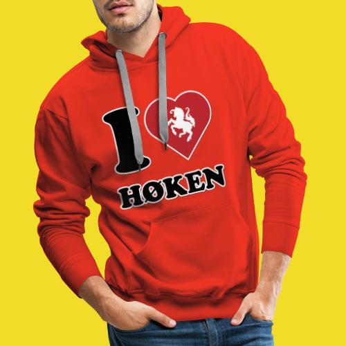 I love Høken - Mannen Premium hoodie