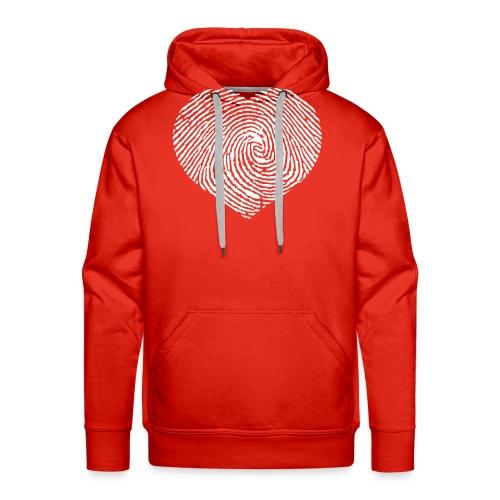 Finger Heart White - Mannen Premium hoodie