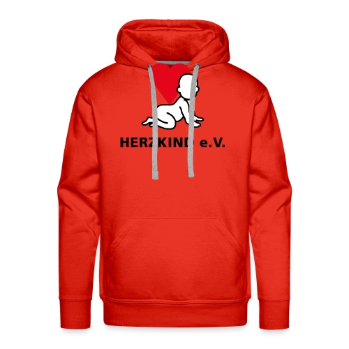 Herzkind Logo Wort Bildmarke ohne Unterzeile PFADE - Männer Premium Hoodie