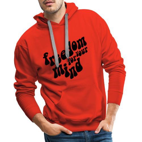 freedom - Sweat-shirt à capuche Premium pour hommes