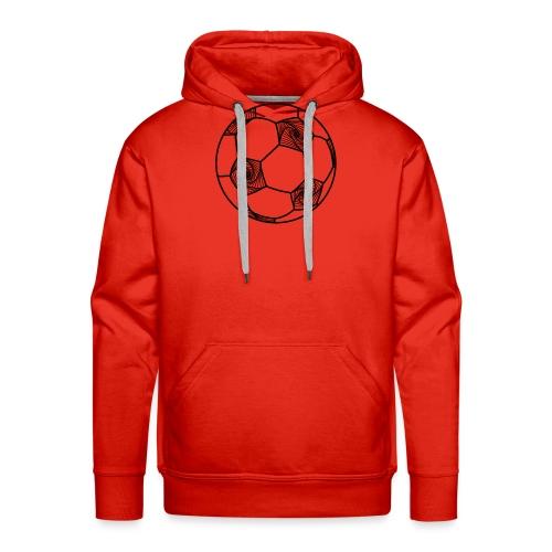 Ballon géométrique - Sweat-shirt à capuche Premium pour hommes