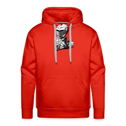 FJR wit - Mannen Premium hoodie